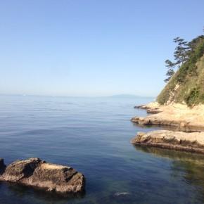 海を正面に臨むまったりスペース:稲村ヶ崎