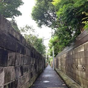 表通りの賑わいが嘘のような小町通り沿いの小路