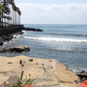 海を見晴らす自然のオープンデッキ